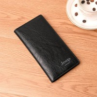 Flip Pu Leather Multi Pockets Solid Hand Wallets - Black