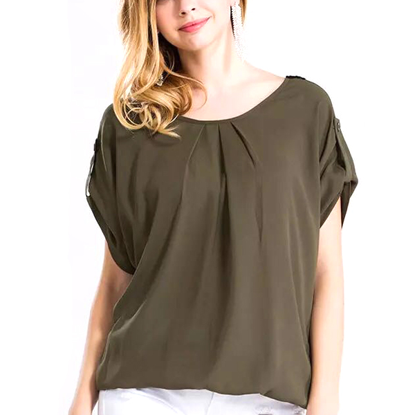 Luxurious Back Lace Designed Green Top For Women