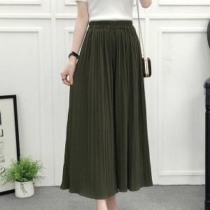 High Waist Loose Asymmetric Wide-leg Trousers - Green