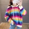 Rainbow Colorful Printed Hoodie T-Shirt