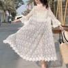 Beach Wear Lace Summer Cardigan - Mimosa Flowers