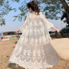 Beach Wear Lace Summer Cardigan - Plum Blossom