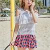 Hot Spring Three-piece Bikini Skirt Beach Swimsuit - Pink