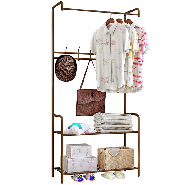 Creative Bedroom Multipurpose Hanger Rack - Brown