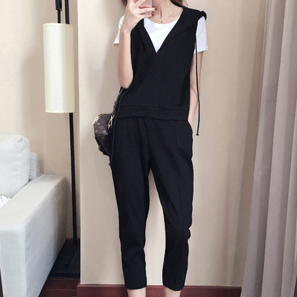 Three Pieces Vest With T-Shirt And Bottom Trousers