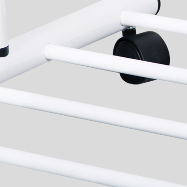 Classic Bedroom Moveable Clothes Hanger Rack - White
