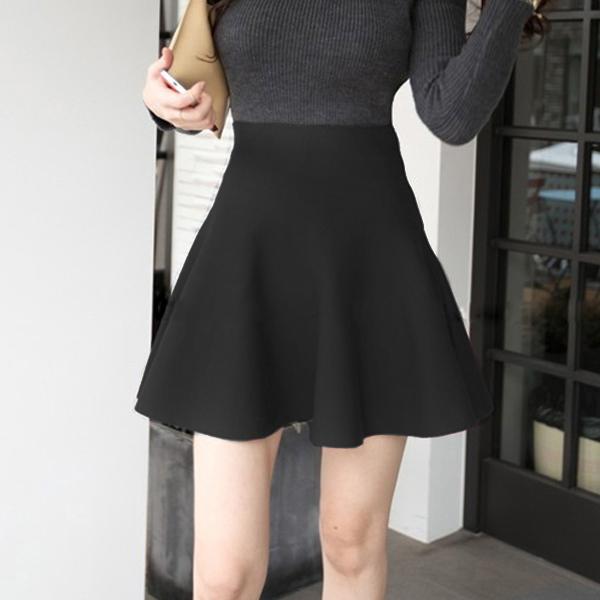 Formal Wear Pleated Mini Length Skirt - Black