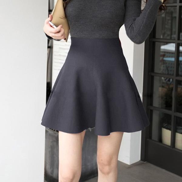 Formal Wear Pleated Mini Length Skirt - Grey