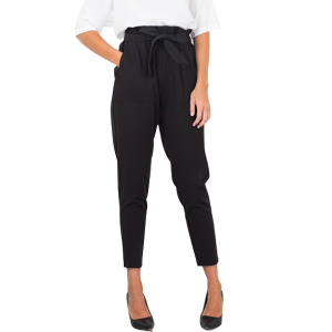 New Modish Plain Waist Bend Black Pants