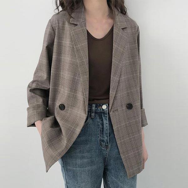 Loose Casual Button Closure Women Dress Coat - Coffee