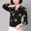 Star Fish Prints Full Sleeves Shirt - Black