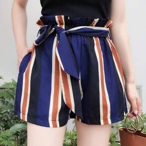 Striped Waist Band Summer Mini Bottom
