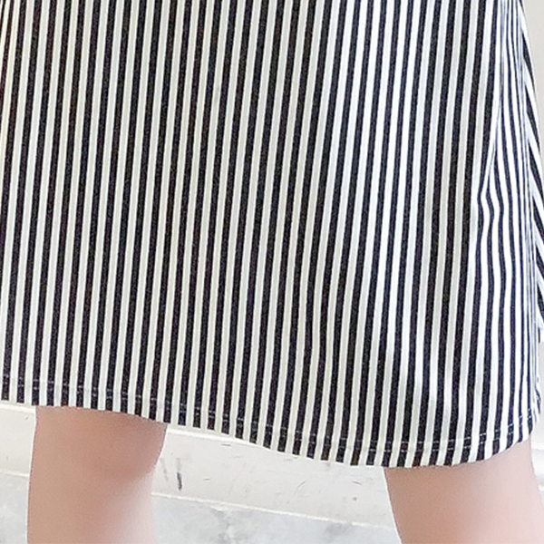 Strap Shoulder Stripes Print Mini Dress