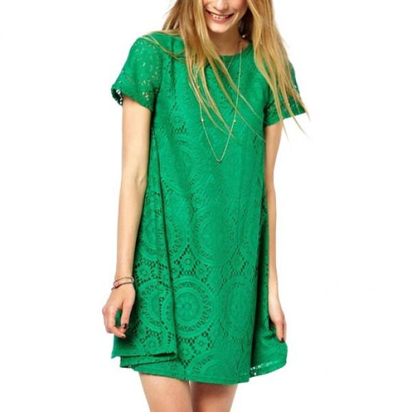 Loose Party Mini Dress Short Sleeve Skirt