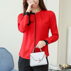 Formal Red Full Sleeves Office Shirt