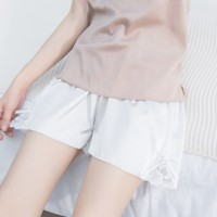 Floral Lace Patched Loose Mini Shorts - White