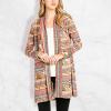 Bohemian Printed Multicolor Long Cardigan