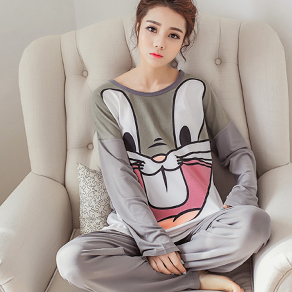 Bugs Bunny Cartoon Prints Two Piece Casual Suit