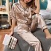 Soft Nightwear Summer Special Two Piece Suit - Golden
