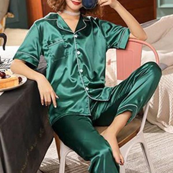 Soft Nightwear Summer Special Two Piece Suit - Green