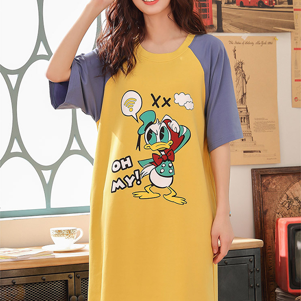 Donald Duck Summer Wear Mini Dress - Yellow