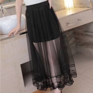 Thin Fabric Summer Special Fancy Skirt - Black