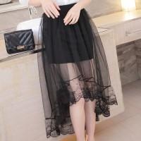 Irregular Pleated Asymmetric Thin Fabric Skirt