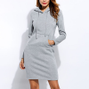 Casual Sports Special Winter Hoodie Mini Dress - Grey