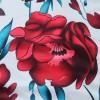Digital Prints Rose Full Sleeves Maxi Dress - Red