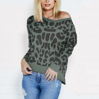 Boho Prints Wide Neck Stretchable Casual T-Shirt - Green