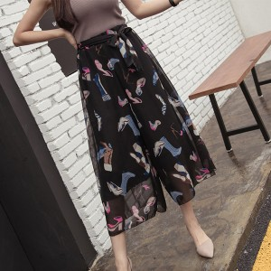 Fashion Printed Loose Wear Palazzo Trousers