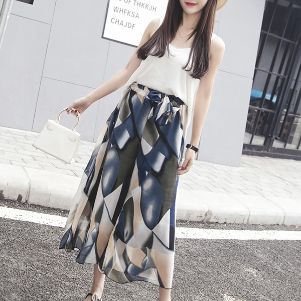 Printed Loose Wear Palazzo Trousers