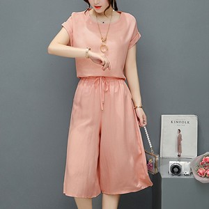 Two Pieces Loose Summer Collection Suit - Pink