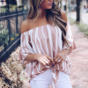 Zebra Prints Knots Style Summer Top - Pink