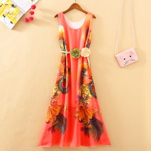 Bohemian Summer Collection Beach Wear Maxi Dress - Multi Color