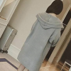 Coat Pleated Full Length Formal Coat - Grey