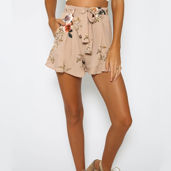 Floral Knot Style Flare Short Bottom