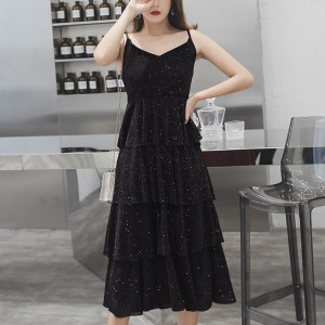 Sparkling V Neck Party Wear Summer Dress