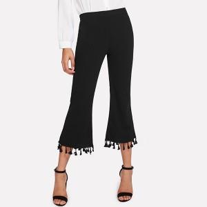 Tassel Style Bat Trousers - Black