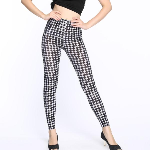Bohemian Texture Prints Slim Pants