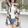 Floral Printed Thin Open Summer Coat - Multicolor
