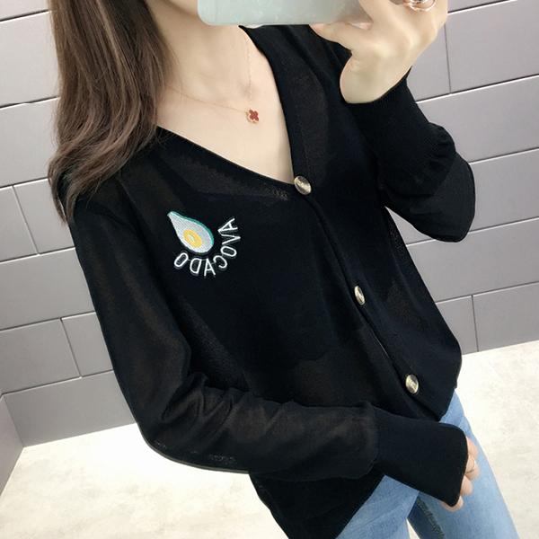 Button Up V Neck Outwear Summer Formal Coat - Black