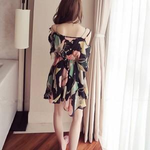 Chiffon Loose Dress Casual Floral Summer Season Beachwear