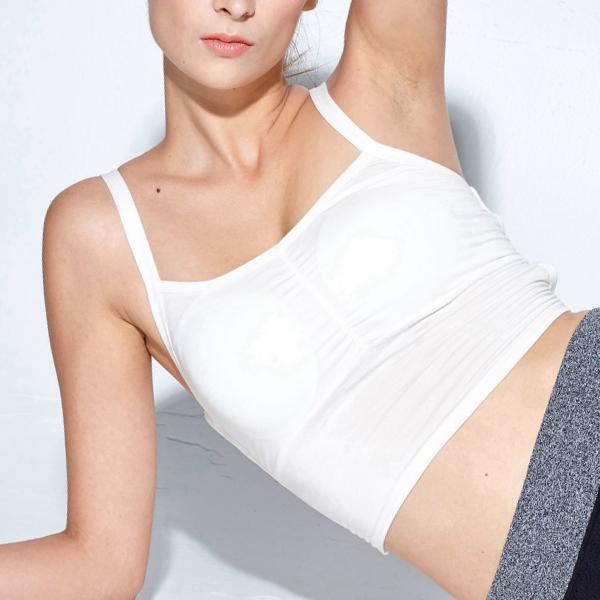 Backless Strapped Sports Wear Bra - White