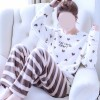 Heart Printed Long Sleeves O Neckline Suit - White