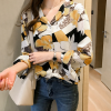 Colorful Floral Prints Full Sleeves Casual Shirt - Yellow