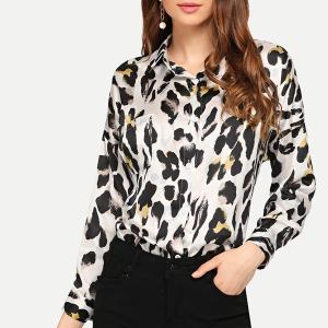 Printed Full Sleeves Collar Casual Shirt