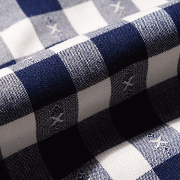 Checks Print Casual Full Sleeves Shirt - Dark Blue