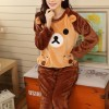 Bear Shape Long Sleeves  O Neckline Suit - Brown