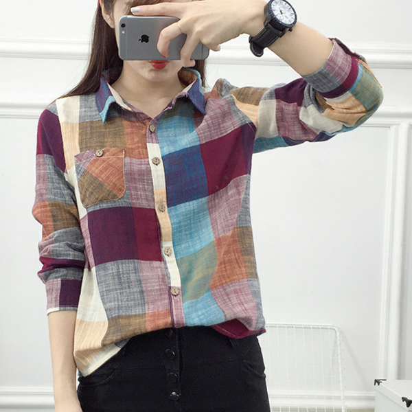 Dark Multicolor Checks Printed Formal Shirt